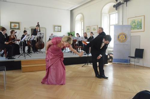 Die Angelika Prokopp-Sommerakademie bei der jährlichen Frühlingsmatinée die seit 2011 im Schloss Hunyadi stattfindet.