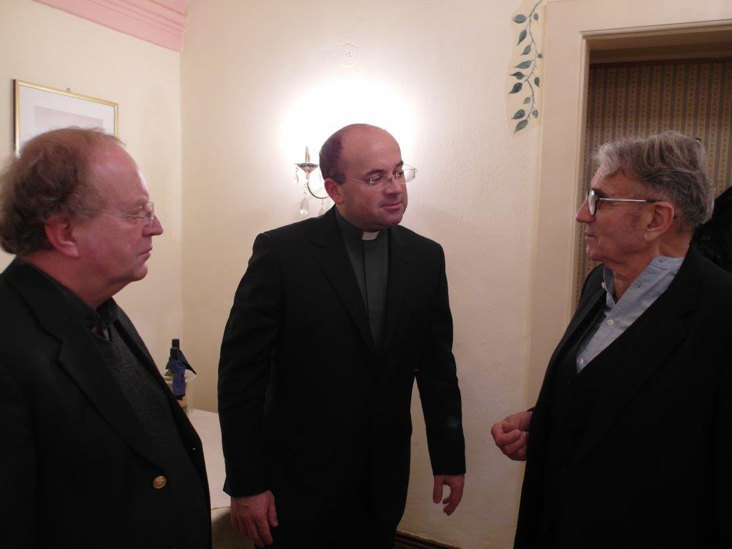 vlnr Pfr. Dr. Bernhard Mucha, Vortragender Dr. Harald Tripp, Militärerzdekan, Robert Busch